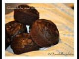 Chocolate and Ricotta cheese muffins for a white Valentine's Day