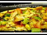 Homemade Thin crust Chicken Pizza