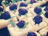 Blackberry Lemon Goat Cheese Squares