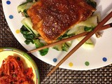 Bulgogi Style Salmon with Bok Choy and Shitake Mushrooms