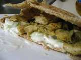 Chicken Souvlaki Pita with Skinny Tzatziki
