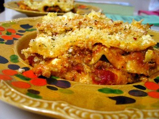 Eggplant and Veal Parmesan Lasagna
