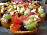 Greek Salad Bruschetta