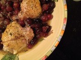 Harvest Roasted Chicken with Grapes, Olives, and Rosemary