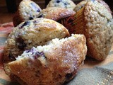 Malted Maple Blueberry Muffins