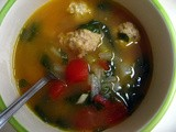 Mini Chicken Meatball Soup