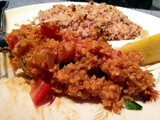 Pecan Crusted Tilapia and Spicy Tomato Basil Quinoa (i'm back!)