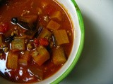 Picadillo and Eggplant Soup