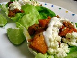 Roasted Sweet Potato and Chorizo Lettuce Wraps