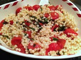 Roasted Tomato and Basil Israeli Couscous