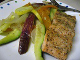 Salmon and Veggies in a Parchment Packet