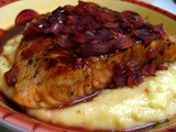 Salmon with Cherry Sauce