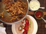 Smokey Roasted Chicken Tacos with Smokey Goat Cheese Crema