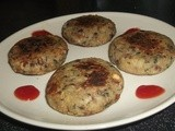 Black Chick Peas Potato Patties Recipe