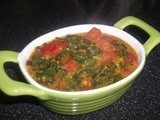 Tomato Palak Curry Recipe (Spinach Curry)