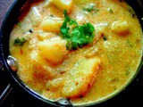 Dahiwale Aloo ( Potatoes in spiced yogurt curry ...( Faraal recipe)