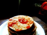 Eggless wholewheat flour and millet pancakes ( Kids recipe )