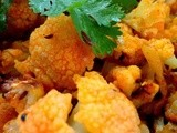 Roasted cauliflower curry with Indian spices