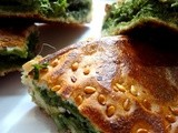 Spinach,Mint,Cilantro Cheese Grilled sandwiches