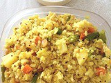 Travel recipe : Instant poha with instant chutney