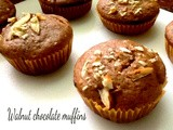 Walnut Chocolate Chip Muffins      ( eggless)