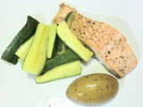 Baked Salmon with Zucchini and Potatoes