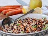 Black Rice Recipe With Apple, Avocado And Carrots