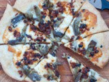 Fresh Artichoke Pizza with Sun-dried Tomatoes and Scamorza Cheese