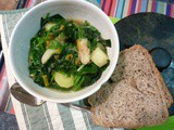 Jerusalem Artichoke Minestrone with Spinach