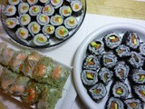 Maki and Uramaki Sushi Rolls Recipe