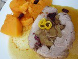 Pork Tenderloin Stuffed with Chestnuts, Cranberries and Lemon Zest