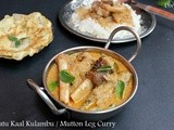 Aatu Kaal Kulambu / Mutton Leg Curry - Using Drumsticks & Brinjals
