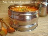 Aatu Kudal Kulambu / Lamb Intestine Curry & lets wish India success
