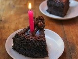 Classic Chocolate Cake |  Chocolate Cake Covered With Chocolate | Second Blogoversary