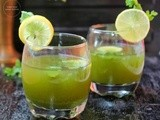 Coriander Mint Juice | Coriander Mint Lemonade | Coriander Cooler | Cilantro Mint Cooler | Detoxifying Drink