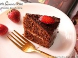 Dark Chocolate Cake With Chocolate Ganache Frosting | Pressure Cooker Method