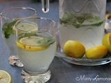 Minty Lemonade | Mint Lemon Juice | Summer Drinks
