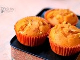 Orange Muffins | Candied Orange Peel Muffins | Christmas Recipes | Eggless Butterless Orange Cupcakes