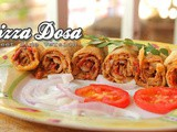 Pizza Dosa | How To Make Street Side Pizza Dosa At Home