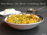 Potato Masala / Aloo Masala / Urulaikilangu Masala - Using Coconut Milk