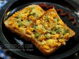 Sweet Corn Cheese Toast | Sweet Corn Capsicum Toast | Cheesy Sweet Corn Bread Toast | Cheese Toast For Kids