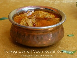 Turkey Curry | Vaan Kozhi Kulambu | Christmas Recipes | New Year Recipes