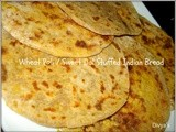Wheat Poli / Sweet Dal Stuffed Indian Bread