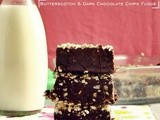 Butterscotch & Dark Chocolate Chips Fudge