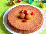 {Guest Post} – Eggless Vanilla Cake Recipe using Gulab Jamun Mix by Chitra of 'Chitra's Food Book'