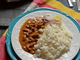 Rajma Masala served over Jeera Rice