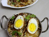 Hyderabadi Egg Biryani Recipe, Egg Dum Biryani Recipe