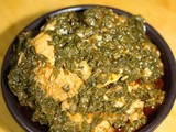 Palak chicken recipe, palak chicken curry