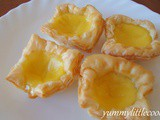 Egg Tarts with Frozen Puff Pastry