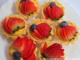 Fruit Tart With Egg Custard Filling